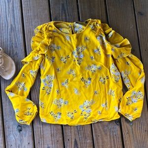 Yellow and Blue Wildflower Top